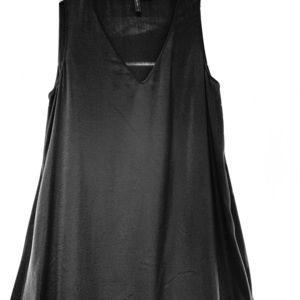 Asymmetrical High-Low Black Cocktail Dress